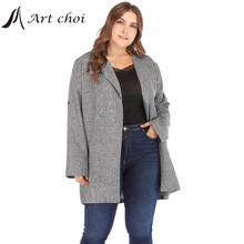 Jackets Solid Blazer Coat Suit Tops Oversized Business Office Slim-Breasted Female Talever