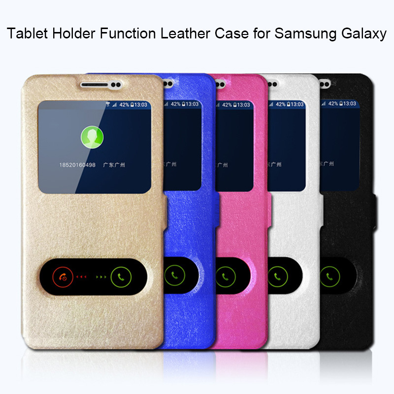 360 <font><b>Flip</b></font> Cover Leather <font><b>Case</b></font> for <font><b>Samsung</b></font> <font><b>A7</b></font> <font><b>2018</b></font> A3 2016 Original Holder Silk <font><b>Case</b></font> for <font><b>Samsung</b></font> A5 2017 A6 A8 A9 Plus <font><b>2018</b></font> A6s A8s image