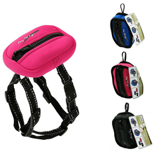 Pet dog harness reflective vest  Reversible bag outdoor training leash with set for small medium s