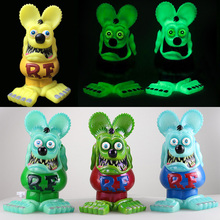 Rat Fink Mouse Model Toys Collections Statue Ratfink Figure Action Glow In Dark Sidewalk Ed Big Daddy Roth Christmas Gifts