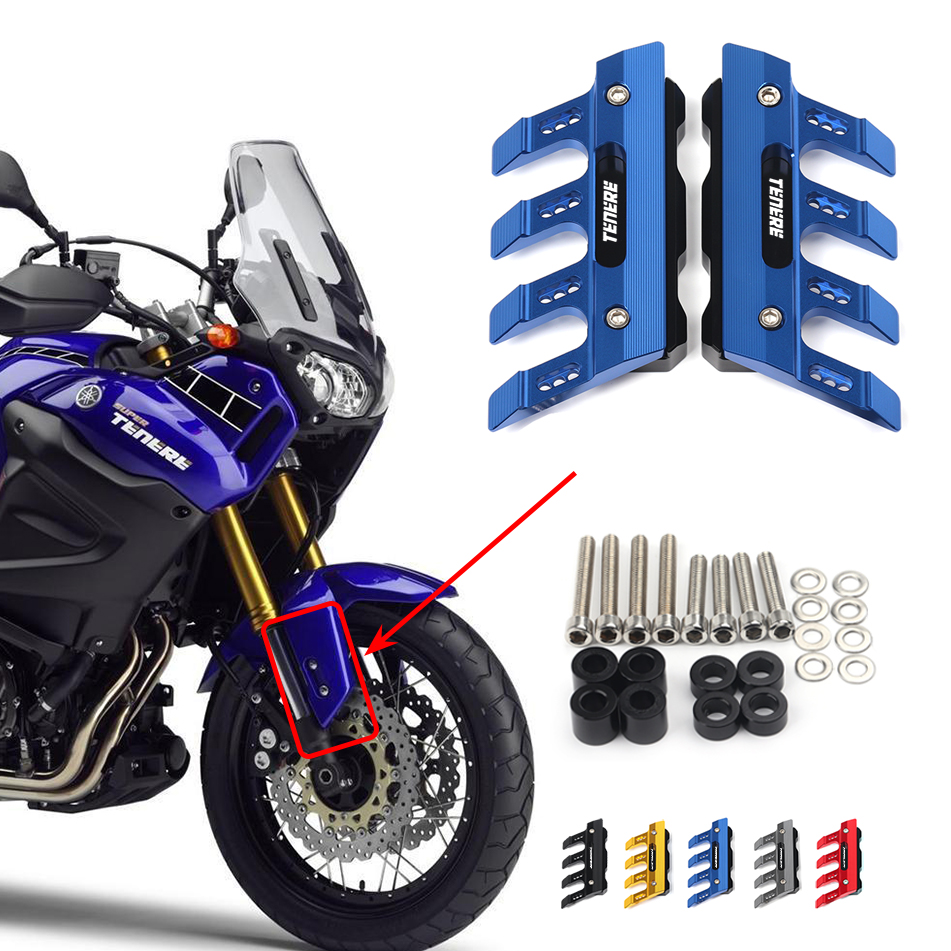 For Yamaha XT1200Z/E super Tenere Motorcycle Mudguard Front Fork Protector Guard Block Front Fender Anti-fall Slider Accessories