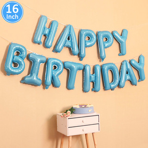 Image 5 - Lincaier 16 inch Happy Birthday Foil Balloons Baby Boy Girl First Birthday 1st One Party Decoration Garland Kids Adult
