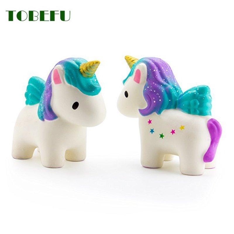 TOBEFU Jumbo Squishy Toys Children Slow Rising Antistress Toy Unicorn Squishies Stress Relief Toy Funny Kids Gift Toy