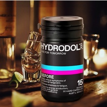 Australia Hydrodol Drunk Hangover Remedy Supplement 30 Capsules Drinking Health Liver Detoxification Alcohol Metabolism Fatigue