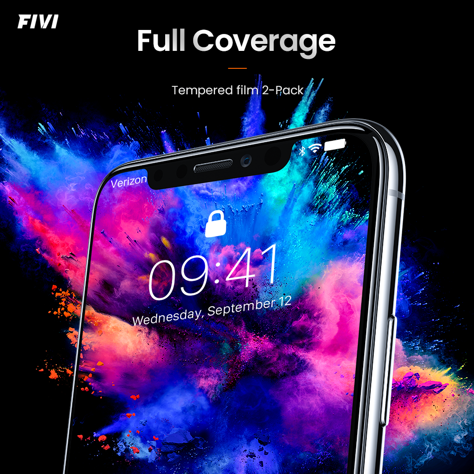 Screen Protector For Iphone 7 8 X XR XS Full Cover Tempered Glass For Iphone 7P Glass Explosion-Proof Protective Glass Protector