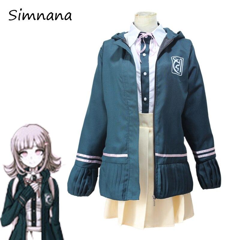 Nanami ChiaKi Costume Danganronpa 2 Cosplay Girl School Uniform Women Sailor Suit Japanese Anime Cosplay Halloween Costume Wigs