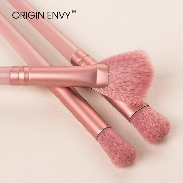 Origem inveja 12 pçs novo produto conjunto de escova de maquiagem escova de olho maquiagem pequena escova em forma de ventilador multifuncional ferramenta de beleza 3