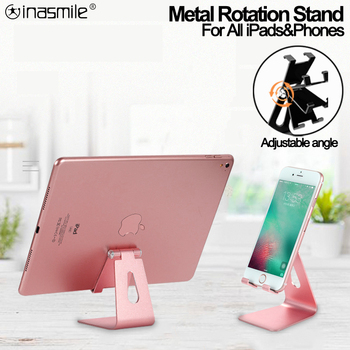 Quality iPad Stand For iPad 9.7 10.2 10.5 12.9 inch Metal Rotation Tablet Desktop Holder For Samsung Xiaomi Huawei Phone Tablet 1