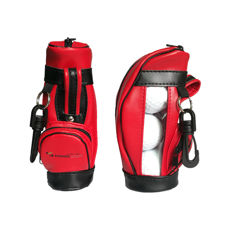 New Style Portable PU Small Golf Ball Waist Bags With 3 Golf Balls Or 100 Golf Tees Gift For Golfer Beginner Trainind Aids