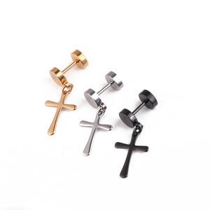 black earrings for men stainle