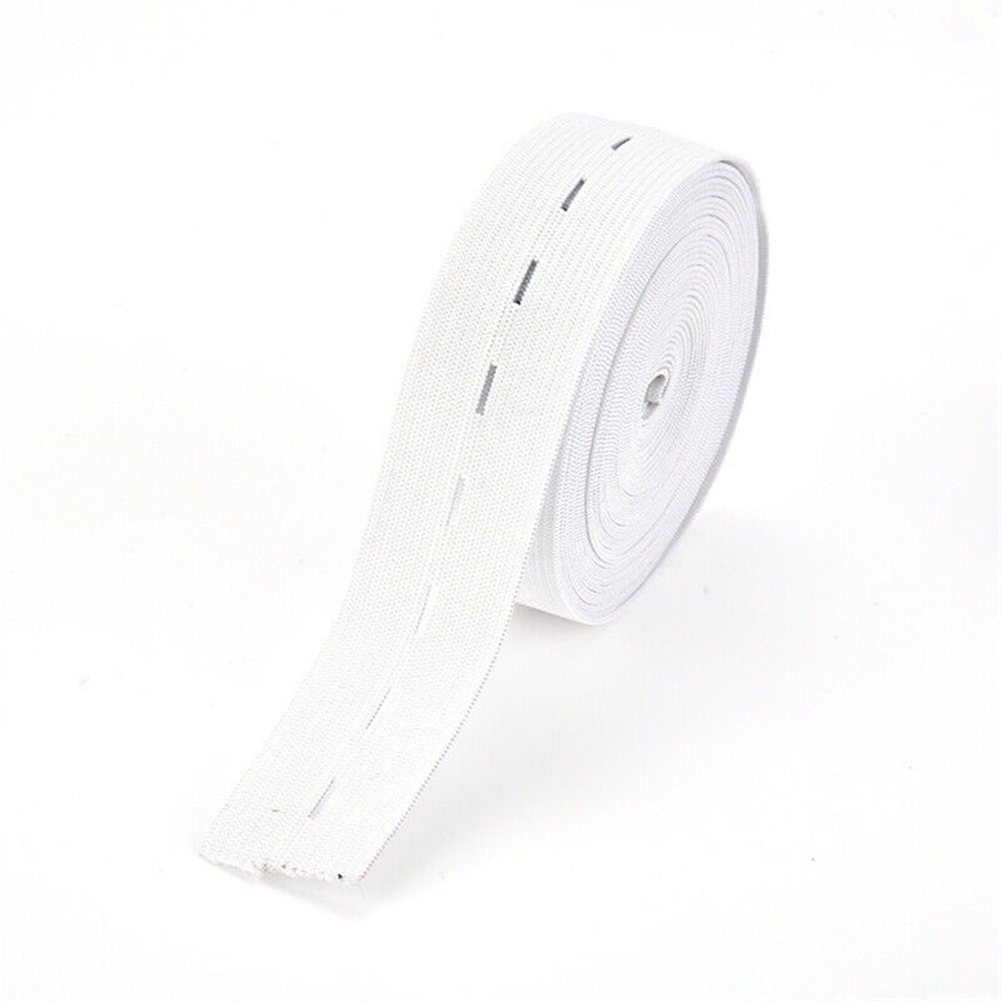 30M Flat Elastic Cord 1.5//2//2.5cm Wide Band Button Hole Ribbon Sewing Supplies