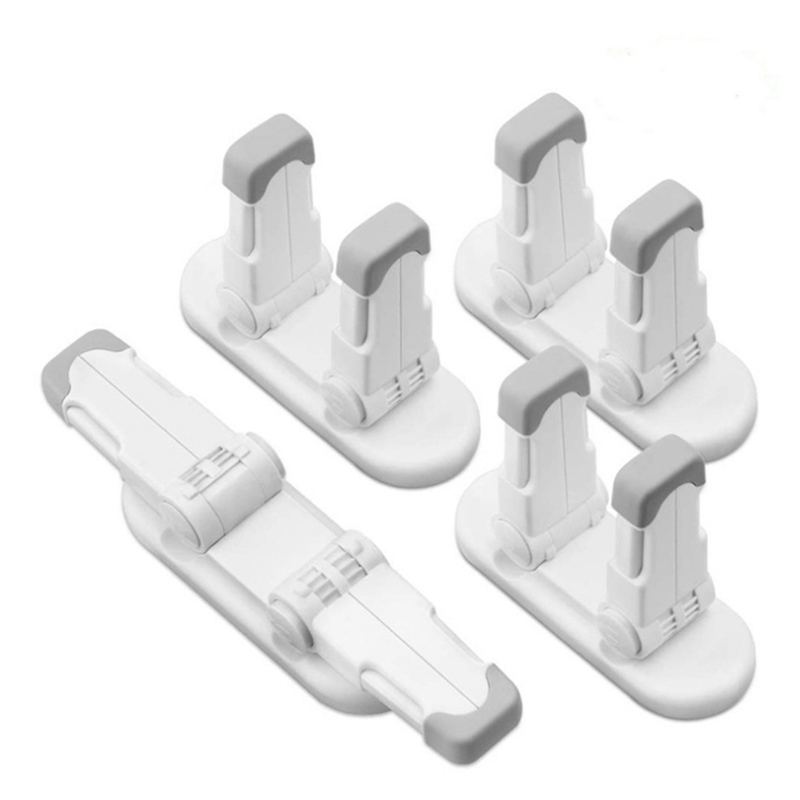 4Pcs Child Proof Door Lever Handle Lock Door Locks for Kids Baby Safety Prevent Little Kids From Opening Door No Screws No Tools|Door Locks| |  - title=