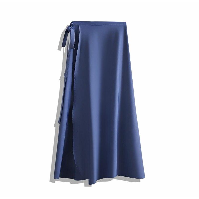 Hot Korean Elegant Strap High Waist Chiffon Piece Skirt Female Summer Long A Word Beach Wrapped Midi Skirts Women Office Lady