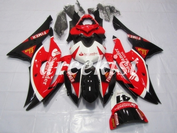 New ABS Motorcycle Full Fairings Kit Fit For YAMAHA YZF-R6 2008 - 2016 08 09 10 11 12 13 14 15 16 body set Red Black