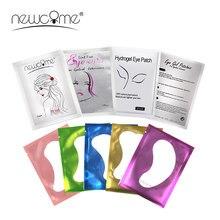 Newcome 20/50/100 Pairs Papier Patch Gepfropft Eye Aufkleber Wimpern Verlängerung Alle Farbe Eye Gel Pads für Wimpern