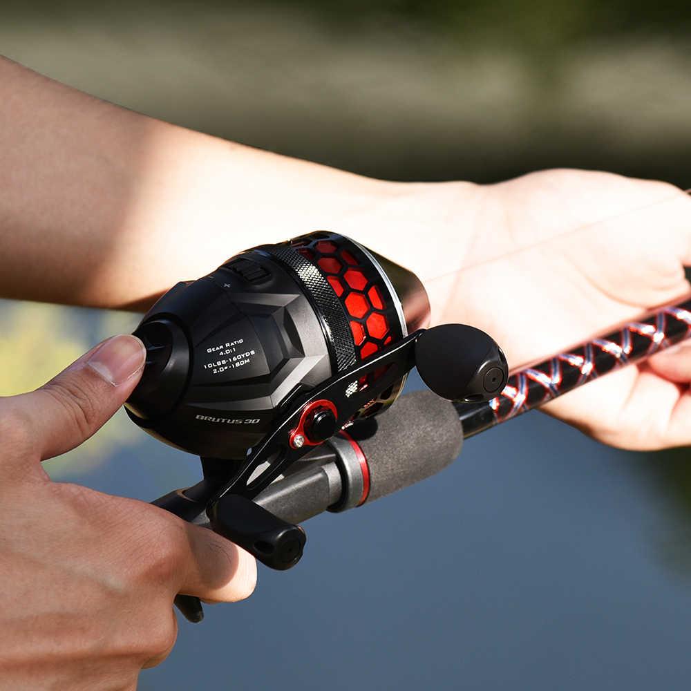 KastKing Brutus الصيد بكرة 4.0:1 نسبة والعتاد 5 + 1 الكرة تحمل 5 كجم ماكس السحب الصيد لفائف Spincast بكرة مع 10LB خيط صنارة الصيد