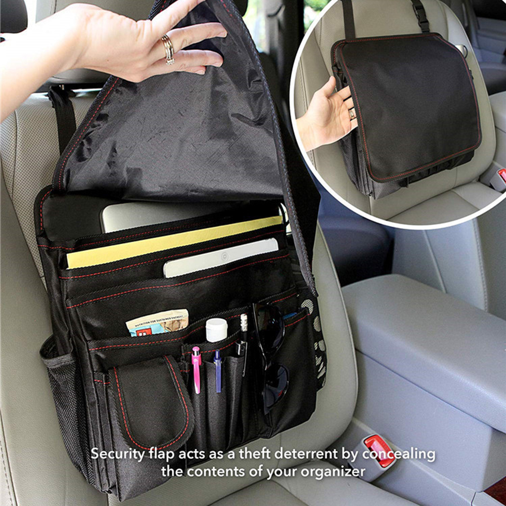 Truck Seat Organizer >> Oxford Cloth Travel Accessory Mobile Durable Hanging Short Front Seat Organizer Car Storage Bag Safe Office Laptop Tablet Truck Storage Container For