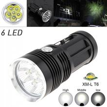LED Flashlight Waterproof 6x XM-L XML T6 LEDs 3 Modes 1800 Lumen Outdoor LED Flash Lamp Flashlight for Camping Hiking led flashlight 3 modes xml t6 keychain tactical flash lights lanterna torche for 3 x aaa battery or 18650battrey torches 90