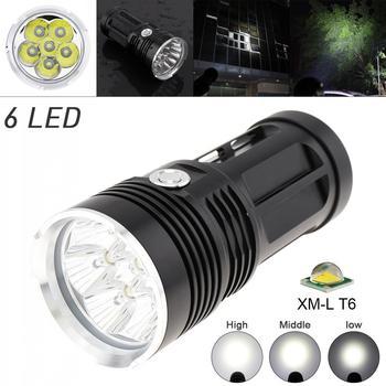 LED Flashlight Waterproof 6x XM-L XML T6 LEDs 3 Modes 1800 Lumen Outdoor LED Flash Lamp Flashlight for Camping Hiking sitemap 33 xml