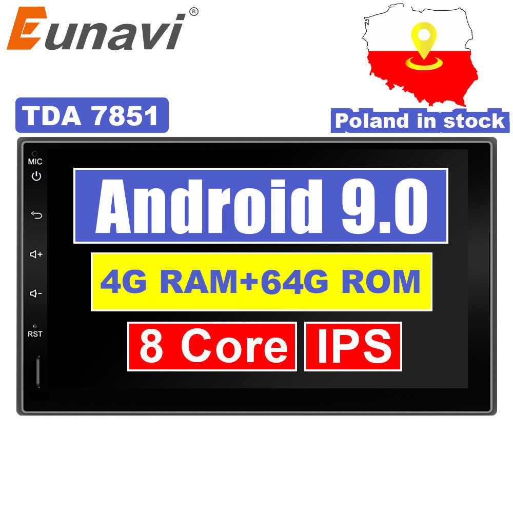 Eunavi 2 Din 7 ''アンドロイド 9.0 ユニバーサルカーラジオダブル din ステレオ GPS ナビゲーションダッシュ Pc ビデオ WIFI USB 2din bt タッチスクリーン