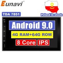 Eunavi 2 Din 7' Android 9.0 Universal Car Radio Double din S