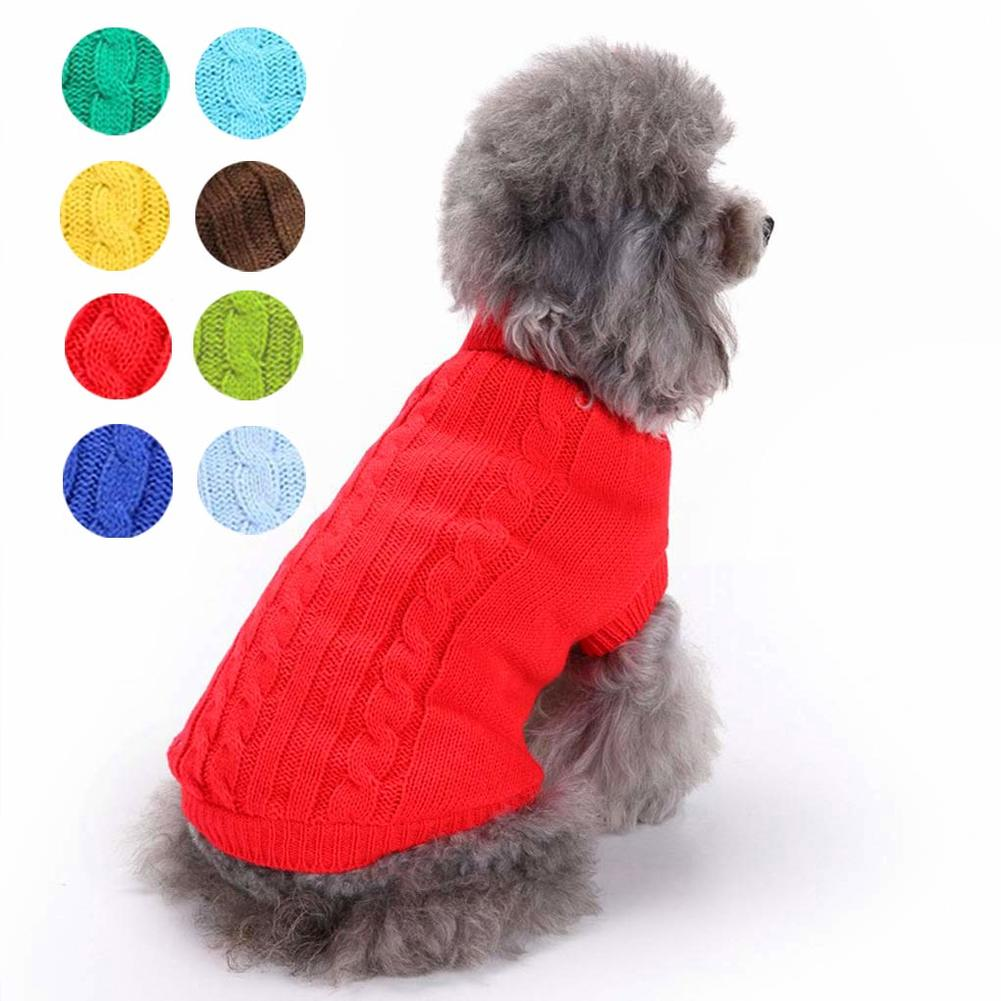 Pet Dogs Fleece Jumper Knitwear Winter Coat Puppy Chihuahua Warm Sweater Clothes