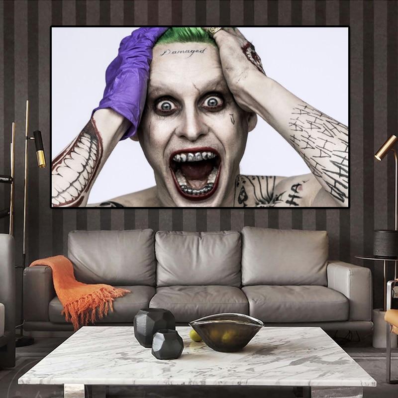 Joker Heath Ledger Print Poster WallArt A6 A5 A4 A3 Batman Dark Knight 1020
