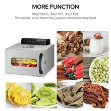 KWASYO  6 Trays Food Dehydrator Fruit Drying Machine Dryer For Vegetables Dried Meat Stainless Ste