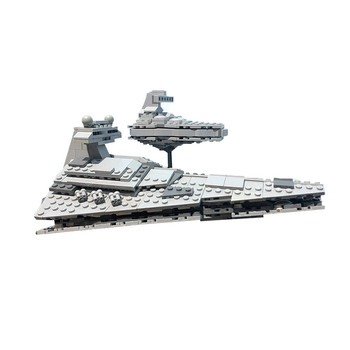 BuildMoc Star Wars Mini Imperial Star Destroyer Building Blocks Wars Executor class Star Dreadnought Ship Starwars Toys Kid Gift new starwars destroyer cruise ship star plan the empire over jedha city building blocks bricks toys for christmas gift 05027