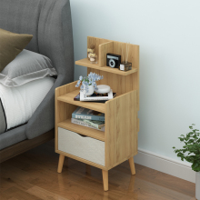 Контракт и современный прикроватный стол полки простой экономической Nordic небольшой спальни кровать получать шкафчик для хранения документов