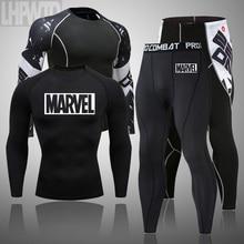 Мужой колект MMA ragard тактика ветные легинсы фитнес мжской кионый омлект одежды бренды мужчины