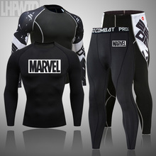 2020 men #8217 s thermal underwe ar set MMA tactics leggin gs Solid color clothing compress fitness lon g johns Men Winter Brands Men cheap CAILAOBAN SED23 Long Johns COTTON Stretch Spandex Polyester Fasion cao Solid coor 2cs compreson exercise set men running clothing