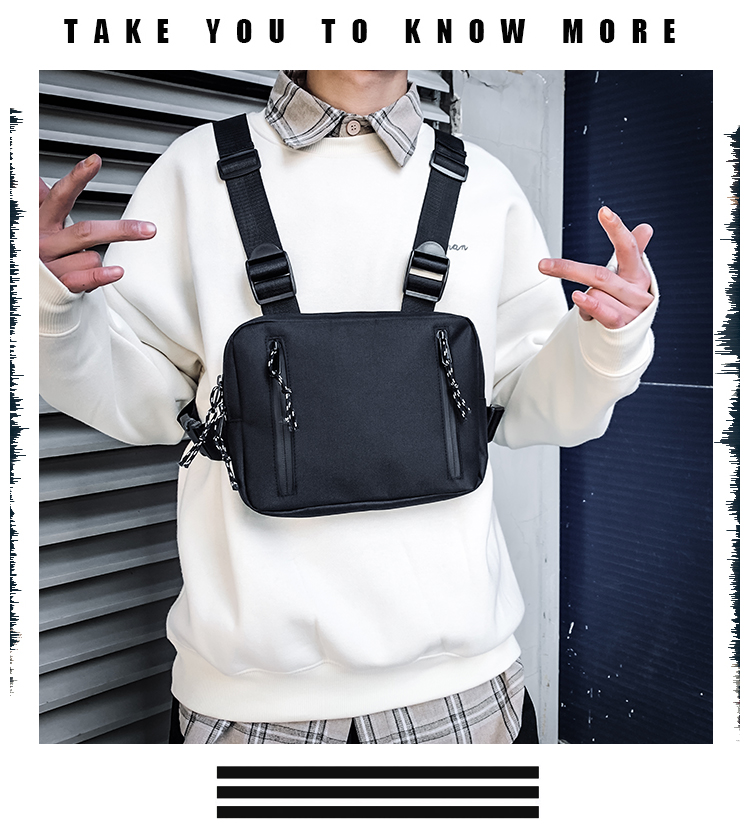 H0303e49712ec40f595a11ad2d0c7c8b05 - Fashion Chest Rig Bag For Men Waist Bag Hip hop streetwear functional Tactical Chest Mobile Phone Bags Male Casual Fanny Pack