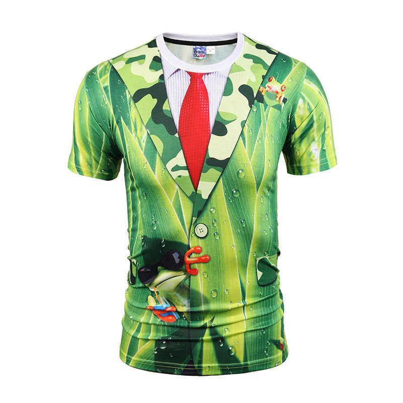 2020 新ファッションメンズ tシャツ 3d Tシャツおかしい印刷胸毛筋肉半袖トップ夏男性の Tシャツストレンジャーもの Tシャツ