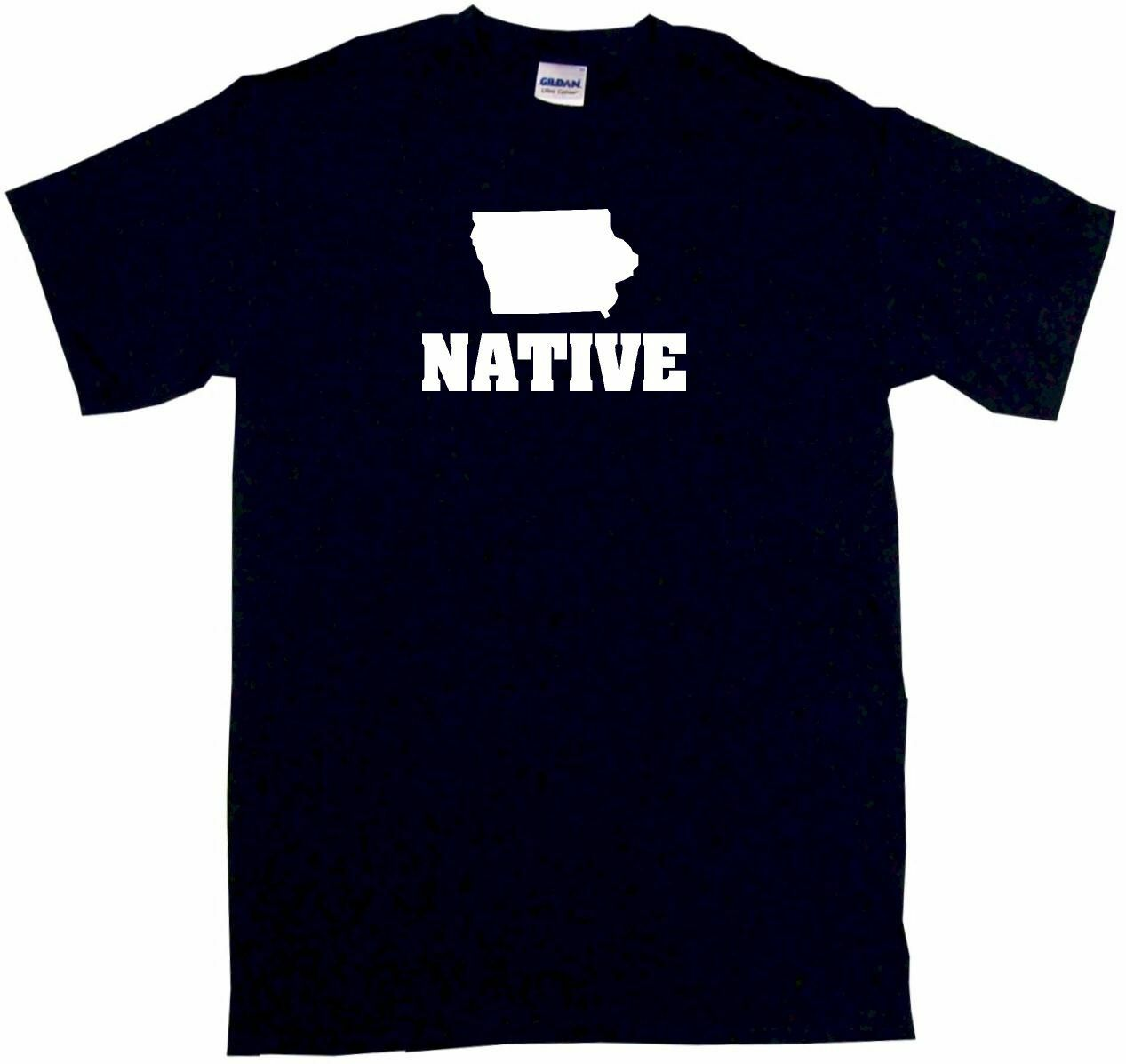 <font><b>Iowa</b></font> Silhouette Native Mens Tee <font><b>Shirt</b></font> Pick Size Color Small-6XL image