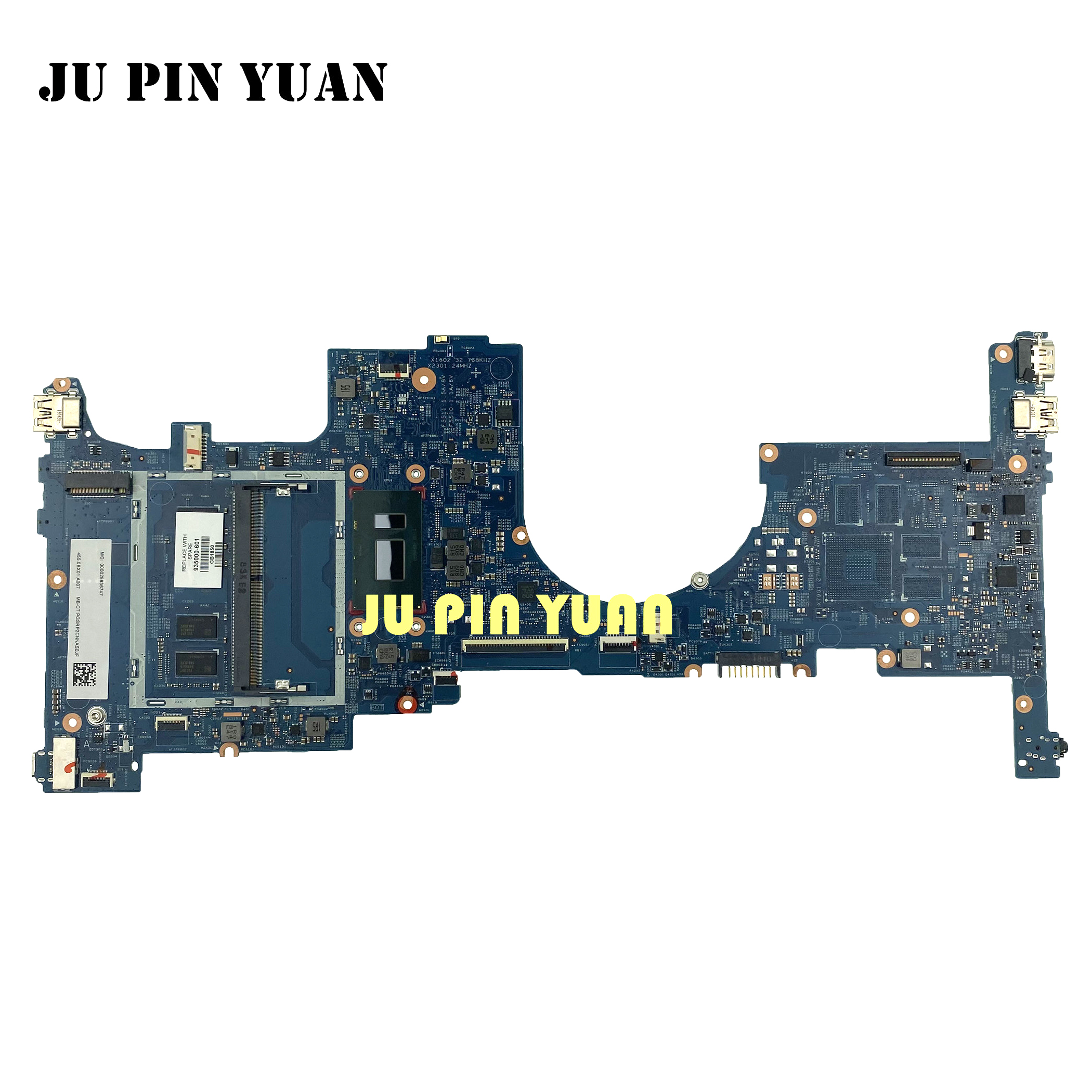 For <font><b>HP</b></font> <font><b>ENVY</b></font> <font><b>X360</b></font> <font><b>CONVERTIBLE</b></font> 15-BP Notebook 4GB i5-8250U Motherboard 935000-601 935000-001 laptop motherboard fully Tested image