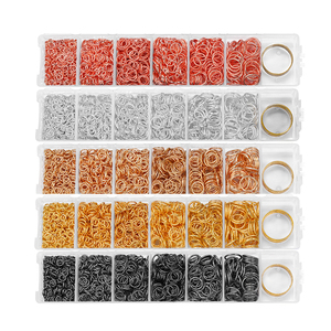 975Pcs/Set 4 5 6 7 8 10mm Open Jump Rings Split Rings Connector For DIY Jewelry Making Sets Findings Accessories Supplies Kits