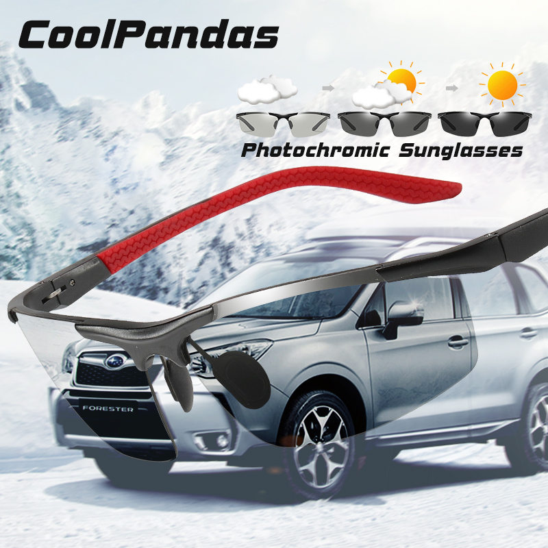 CoolPandas Brand Classic Design Photochromic Sunglasses Men Polarized Driving Glasses Day Night Vision Chameleon Lens Unisex