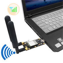 NGFF M2 Key B to USB 3.0 Adapter Converter Expansion Card Applicable with Dual Nano SIM Card Slots 2 External Antennas