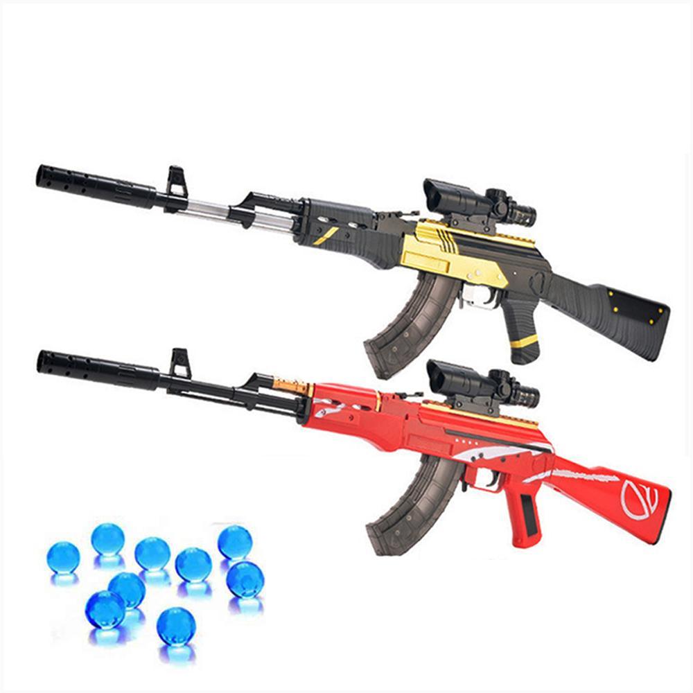 1 pièces classique AKM AK 47 jouets pistolet enfants jouet pistolets balle molle pistolet en plastique fusil d'assaut enfants en plein air amusant jeu de tir jouet