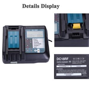 Image 4 - Reemplazo del cargador para el cargador Mikita 14,4/18V DC18RC/DC18RF 3.5A interfaz USB LCD Pantalla de carga rápida EU/US/UK adaptador de enchufe
