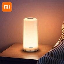 Xiaomi MIJIA умный прикроватный светильник PHILIPS прикроватная лампа Светодиодная лампа с затемнением ночник USB зарядка WiFi Bluetooth Mi приложение для дома
