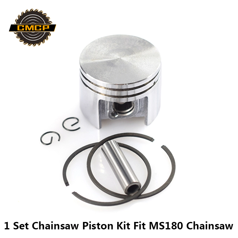 1 Set 38mm Piston Kit Fit For MS180 Chainsaw Cylinder Piston Set Chainsaw Piston Kit With Piston Rings
