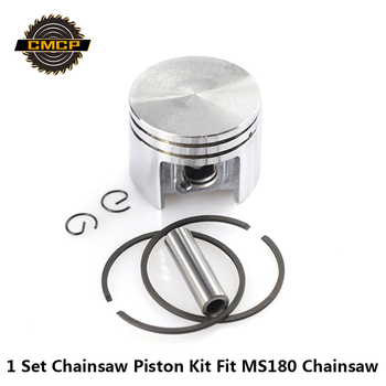 1 Set 38mm Piston Kit Fit For MS180 Chainsaw Cylinder Piston Set Chainsaw Piston Kit With Piston Rings фото