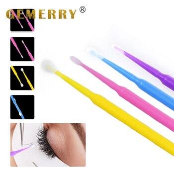 100 sztuk jednorazowe klej do rzęs szczotka do czyszczenia wydłużająca rzęsy aplikatory Mascara Brush Micro trwałe dla kobiet...