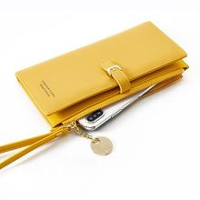 2019 new Fashion Women Wallets Long Wallet Female Purse Pu Leather Wallets Big Capacity Ladies Coin Purses Phone Clutch недорого