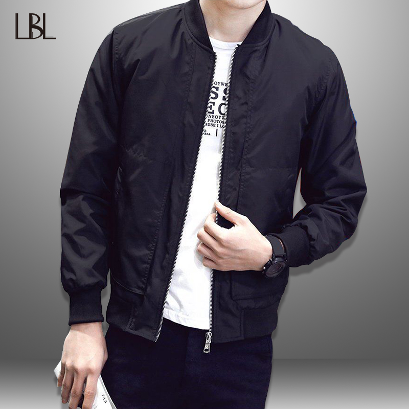 LBL Casual Bomber Jacket Men Spring Baseball Jackets Men Autum Thin Coat Man Outwear Slim Fit Mens Tracksuit Brand Clothes 2019