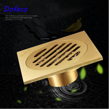 Dofaso bathroom shower drain waste  floor Anti-odor Bathtub Shower Drainer Stainless Steel Square drainage Floor Drain