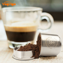 VOGVIGO Coffee Filter  Nespresso Stainless Steel Refillable Capsule Tamper Reusable Pod 1 Spoon +