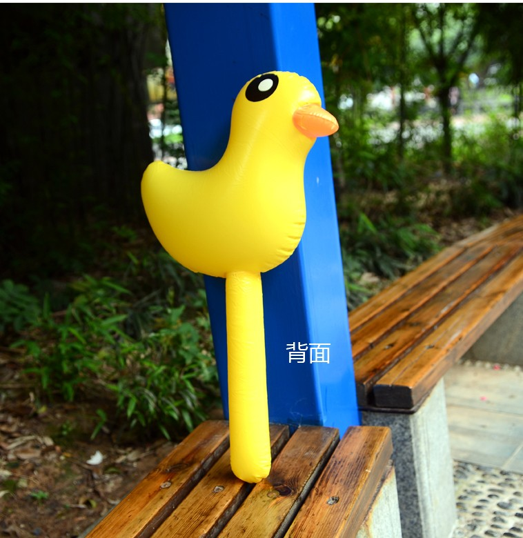 Inflatable Animal Inflatable Ducklings Rods Lamented The Son Yellow Duck Toy Hammer Rod Pvc Toys Children Gifts Outdoor Game